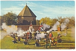 Williamsburg, VA, Colonial Militia Postcard 1966