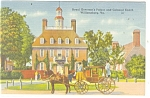 Willamsburg, VA, Governor's Palace and Coach Postcard