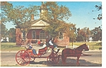Willamsburg, VA, 1770 Court House and Coach Postcard