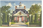 Willamsburg, VA, Governor's Palace Gardens Postcard