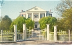 Natchez,MS, Rosalie Mansion Gate Postcard