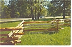 Natchez,MS, Natchez Trace Parkway Fence Postcard