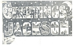 Click here to enlarge image and see more about item p10758: Jackson,MS, Big Letter Postcard p10758