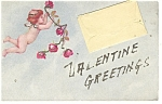 Click here to enlarge image and see more about item p10769: Valentine Greetings Pouch Postcard p10769