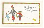 Click here to enlarge image and see more about item p10774: A Joyous New Year Postcard 1915