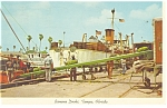 Tampa,FL, Banana Docks Postcard 1965