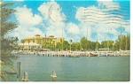 St Petersburg FL Central Yacht Basin Postcard p10795 1968