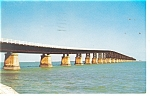 Bahla Honda Bridge Overseas Hwy Florida Postcard p10799 1965