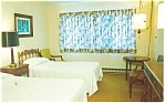 Waymart, PA, Ladore Lodge Bedroom Postcard