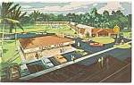 Silver Springs FL Quality Courts Motel Postcard p10818