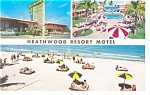 Miami Beach,FL, Heathwood Resort Motel Pcard Cars 50s