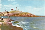 Click here to enlarge image and see more about item p1083: Nubble Light York ME Postcard p1083