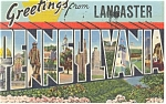Greetings From PA Big Letter Postcard 1943