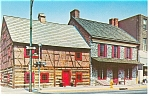 York,PA Gates House and Plough Tavern  Postcard