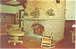 Uniontown PA Mount Summit Hotel Fireplace  Postcard p10871