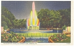 Hershey PA The Electric Fountain Postcard p10926