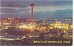 Click here to enlarge image and see more about item p10937: Seattle World's Fair from Queen Anne Hill Postcard p10937