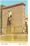 Click here to enlarge image and see more about item p10953: Lincoln, NE, Lincoln Statue Postcard 1962