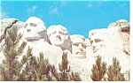 Mt Rushmore South Dakota Postcard p10957