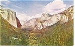 Click here to enlarge image and see more about item p10958: Yosemite Valley, CA From Wawona Tunnel Postcard