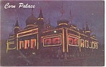 Mitchell SD  Corn Palace Postcard p10969 1962