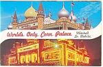Click here to enlarge image and see more about item p10970: Mitchell, SD, Corn Palace Postcard