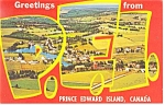 Greetings From Prince Edward Island Canada Postcard p10980 1969