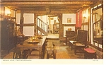 Click here to enlarge image and see more about item p10982: Stratford on Avon Harvard House Interior Postcard p10982 1965