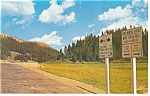 Click here to enlarge image and see more about item p10988: Continental Divide CO on US 160 Postcard 1958