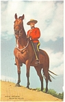 Click here to enlarge image and see more about item p10991: Canadian Mounted Police Officer Canada Postcard p10991 1952