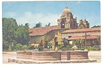 Click here to enlarge image and see more about item p11004: Mission Carmel, CA Postcard