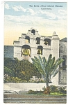 The Bells of Mission San Gabriel, CA Postcard