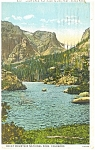 Click here to enlarge image and see more about item p11015: Loch Vale Rocky Mt National Park CO Postcard p11015