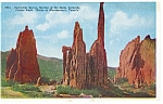 Click here to enlarge image and see more about item p11024: Cathedral Spires, Garden Of The Gods,CO Postcard