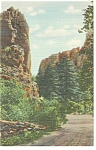Click here to enlarge image and see more about item p11025: Colorado Springs CO The Mexican Saddle Postcard p11025