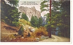 Cheyenne Canon, CO, Castle Rock Postcard