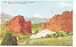 Click here to enlarge image and see more about item p11035: Gateway to Garden Of The Gods, CO, Postcard