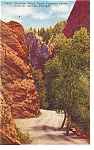 Cheyenne Canon, CO, Cheyenne Gorge Postcard