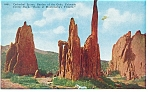 Click here to enlarge image and see more about item p11044: Garden Of The Gods CO Cathedral Spires Postcard p11044