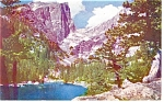 Click here to enlarge image and see more about item p11056: Dream Lake and Hallett Peak CO Postcard p11056