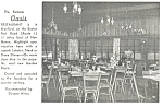 Click here to enlarge image and see more about item p11059: Famous Oasis Restaurant Interior CT Postcard p11059