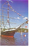 Joseph Conrad at Mystic Seaport CT Postcard  p11060