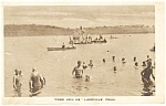 Click here to enlarge image and see more about item p11062: Lakeville ,CT, Bathers in Lake Postcard