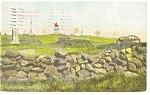 Click here to enlarge image and see more about item p11100: Gettysburg, PA East Cemetery Hill Postcard 1910