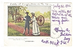 Click here to enlarge image and see more about item p11141: Washington DC, Young Couple,Cannons Postcard 1906