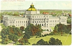 Washington DC, Library Of Congress Postcard 1916