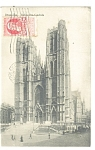Click here to enlarge image and see more about item p11163: Bruxelles Belgium Eglise Ste Gudule  Postcard p11163