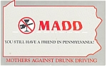 MADD in PA Advertising Postcard