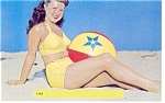 Girl on Beach Postcard