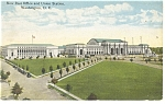 Washington, DC, Post Office,Union Station Postcard 1918